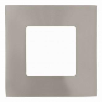 EGLO 94519 | Fueva-1 Eglo zabudovateľné LED panel štvorec 85x85mm 1x LED 300lm 3000K matný nikel, biela