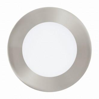 EGLO 94521 | Fueva_1 Eglo zabudovateľné LED panel kruhový Ø120mm 1x LED 600lm 3000K matný nikel, biela