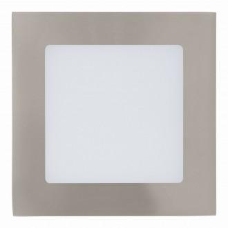 EGLO 94522 | Fueva_1 Eglo zabudovateľné LED panel štvorec 120x120mm 1x LED 600lm 3000K matný nikel, biela
