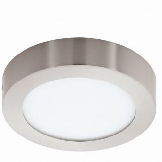 EGLO 94523 | Fueva_1 Eglo stropné LED panel kruhový 1x LED 1200lm 3000K matný nikel, biela