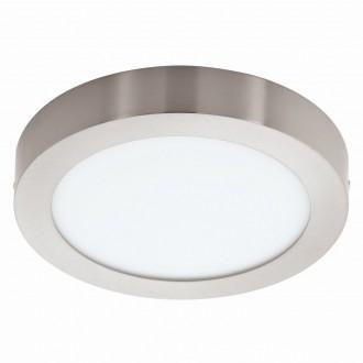 EGLO 94525 | Fueva_1 Eglo stropné LED panel kruhový 1x LED 1600lm 3000K matný nikel, biela