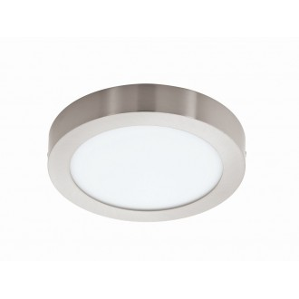 EGLO 94527 | Fueva_1 Eglo stropné LED panel kruhový 1x LED 2200lm 3000K matný nikel, biela