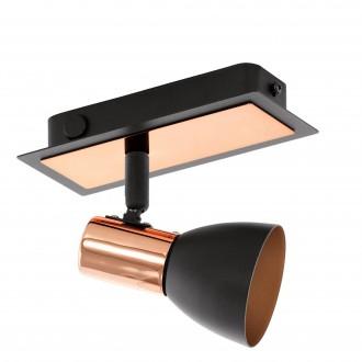 EGLO 94584 | Barnham Eglo stenové, stropné svietidlo prepínač otočné prvky 1x GU10 240lm 3000K čierna, mosadz