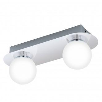 EGLO 94627 | Mosiano Eglo stenové, stropné svietidlo 2x LED 680lm 3000K IP44 chróm, biela