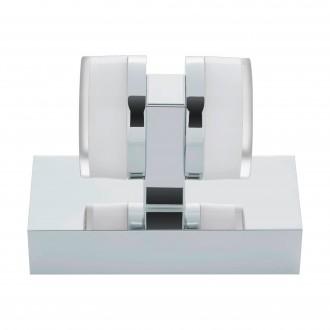 EGLO 94651 | Romendo Eglo rameno stenové svietidlo 2x LED 960lm 3000K IP44 chróm, biela, priesvitná