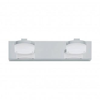 EGLO 94652 | Romendo Eglo rameno stenové svietidlo 2x LED 960lm 3000K IP44 chróm, biela, priesvitná