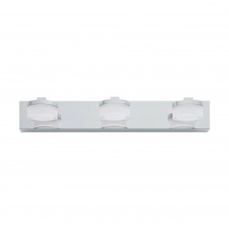 EGLO 94653 | Romendo Eglo rameno stenové svietidlo 3x LED 1440lm 3000K IP44 chróm, biela, priesvitná