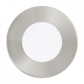 EGLO 94734 | Fueva_1 Eglo zabudovateľné LED panel kruhový 3 dielna súprava Ø85mm 3x LED 900lm 3000K matný nikel, biela