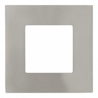 EGLO 94735 | Fueva_1 Eglo zabudovateľné LED panel štvorec 3 dielna súprava 85x85mm 3x LED 900lm 3000K matný nikel, biela
