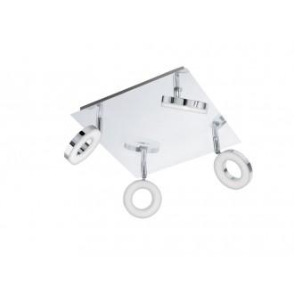 EGLO 94763 | Gonaro Eglo spot svietidlo otočné prvky 4x LED 1440lm 3000K IP44 chróm, biela