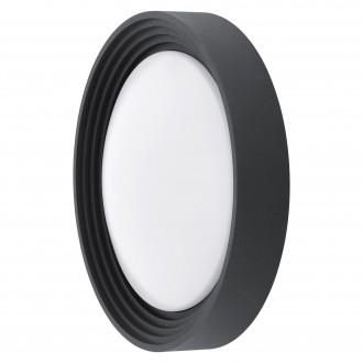 EGLO 94784 | Ontaneda Eglo stenové, stropné svietidlo kruhový 1x LED 820lm 3000K IP44 čierna, biela
