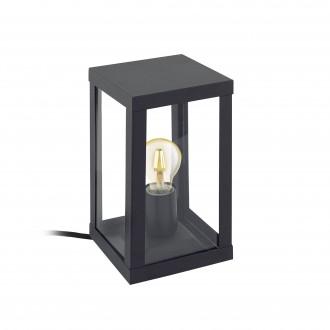 EGLO 94789 | Alamonte Eglo stolové svietidlo 27,5cm 1x E27 IP44 čierna, priesvitná