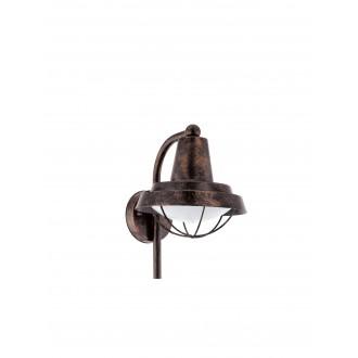 EGLO 94838 | Colindres Eglo rameno stenové svietidlo 1x E27 IP44 starožitná červená meď, biela