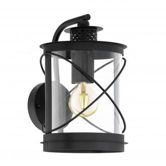 EGLO 94843   Hilburn Eglo rameno stenové svietidlo 1x E27 IP44 čierna, priesvitná