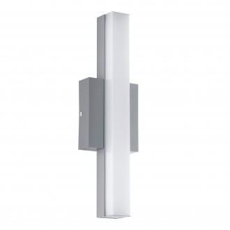 EGLO 94845 | Acate Eglo stenové, stropné svietidlo štvorec 1x LED 770lm 3000K IP44 strieborný, biela