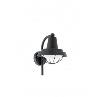 EGLO 94862 | Colindres Eglo rameno stenové svietidlo 1x E27 IP44 čierna, biela