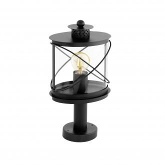 EGLO 94864 | Hilburn Eglo stojaté svietidlo 41cm 1x E27 IP44 čierna, priesvitná