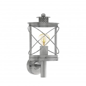 EGLO 94865   Hilburn Eglo rameno stenové svietidlo 1x E27 IP44 starožitná strieborná, priesvitná
