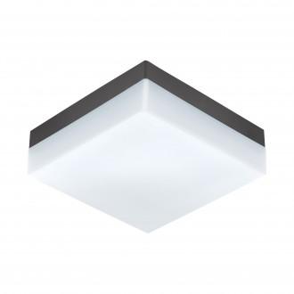 EGLO 94872 | Sonella Eglo stenové, stropné svietidlo tehla 1x LED 820lm 3000K IP44 antracit, biela