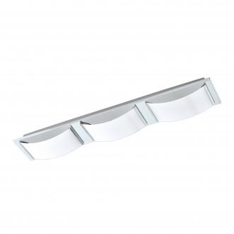EGLO 94883 | Wasao-1 Eglo stenové, stropné svietidlo otočné prvky 3x LED 1530lm 3000K IP44 chróm, biela