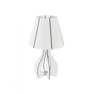 EGLO 94947 | Tindori Eglo stolové svietidlo 45cm prepínač na vedení 1x E27 biela