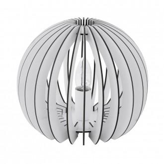 EGLO 94949 | Cossano Eglo stolové svietidlo 22cm prepínač na vedení 1x E27 biela