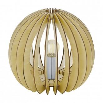EGLO 94953 | Cossano Eglo stolové svietidlo 22cm prepínač na vedení 1x E27 javor, biela