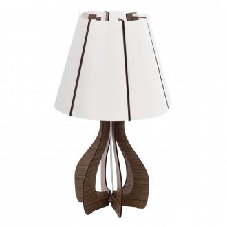 EGLO 94954 | Tindori Eglo stolové svietidlo 45cm prepínač na vedení 1x E27 hnedá, biela