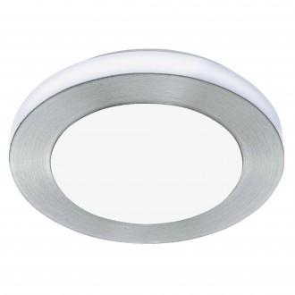 EGLO 94967 | Carpi-LED Eglo stenové, stropné svietidlo kruhový 1x LED 950lm 3000K IP44 leštený hliník, biela