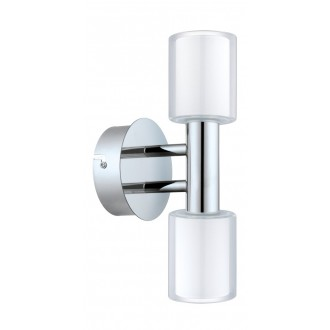 EGLO 94994 | Palermo-1 Eglo rameno stenové svietidlo 2x G9 600lm 3000K IP44 chróm, biela, priesvitná