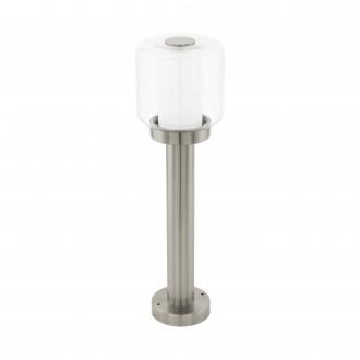EGLO 95018 | Poliento Eglo stojaté svietidlo 50cm 1x E27 IP44 zušľachtená oceľ, nehrdzavejúca oceľ, priesvitná, biela