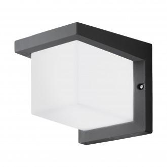 EGLO 95097 | Desella1 Eglo stenové svietidlo štvorec 1x LED 900lm 3000K IP54 antracit, biela