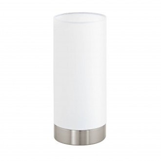 EGLO 95118 | Eglo-Pasteri-W Eglo stolové svietidlo 25,5cm dotykový prepínač s reguláciou svetla 1x E27 matný biely, matný nikel