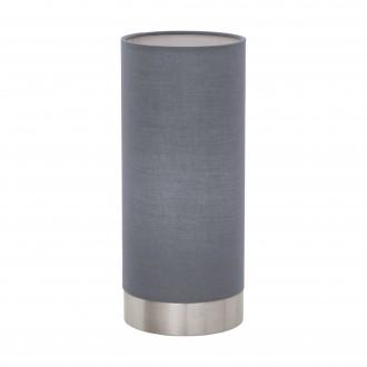 EGLO 95119 | Eglo-Pasteri-G Eglo stolové svietidlo 25,5cm dotykový prepínač s reguláciou svetla 1x E27 matná šedá, biela, matný nikel
