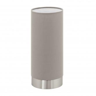 EGLO 95122 | Eglo-Pasteri-T Eglo stolové svietidlo 25,5cm dotykový prepínač s reguláciou svetla 1x E27 matný tmavošedý, biela, matný nikel
