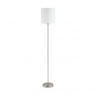 EGLO 95164 | Eglo-Pasteri-W Eglo stojaté svietidlo 157,5cm nožný vypínač 1x E27 matný biely, matný nikel