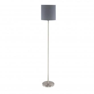 EGLO 95166 | Eglo-Pasteri-G Eglo stojaté svietidlo 157,5cm nožný vypínač 1x E27 matná šedá, biela, matný nikel