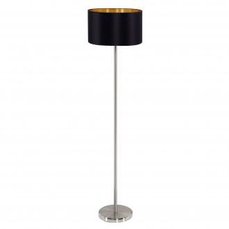 EGLO 95169 | Eglo-Maserlo-B Eglo stojaté svietidlo 151cm nožný vypínač 1x E27 lesklá čierna, zlatý, matný nikel