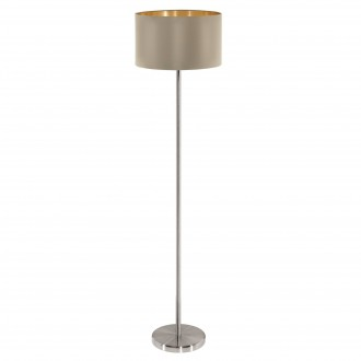 EGLO 95171 | Eglo-Maserlo-T Eglo stojaté svietidlo 151cm nožný vypínač 1x E27 lesklý tmavošedý, zlatý, matný nikel