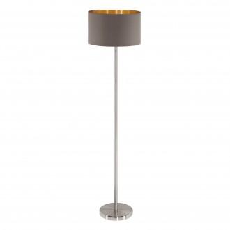 EGLO 95172 | Eglo-Maserlo-C Eglo stojaté svietidlo 151cm nožný vypínač 1x E27 lesklé cappuccino, zlatý, matný nikel