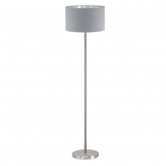 EGLO 95173 | Eglo-Maserlo-G Eglo stojaté svietidlo 151cm nožný vypínač 1x E27 sivé, strieborný, matný nikel