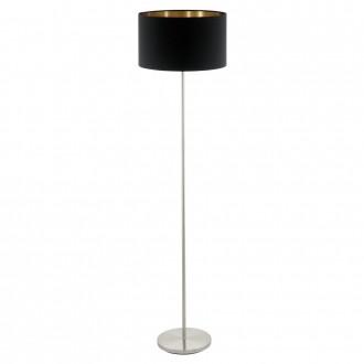 EGLO 95175 | Eglo-Pasteri-BC Eglo stojaté svietidlo 151cm nožný vypínač 1x E27 matná čierna, mosadz, matný nikel