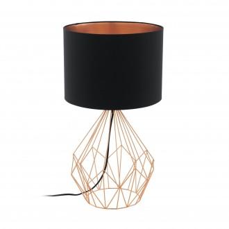 EGLO 95185 | Carlton Eglo stolové svietidlo 64,5cm prepínač na vedení 1x E27 mosadz, čierna