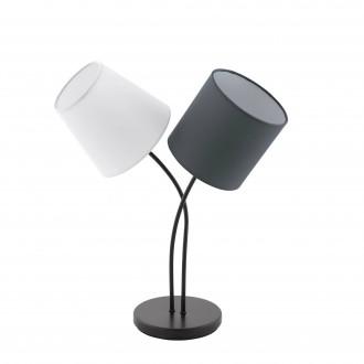 EGLO 95194 | Almeida Eglo stolové svietidlo 47,5cm prepínač na vedení 2x E14 čierna, biela