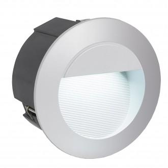 EGLO 95233 | ZimbaLed Eglo zabudovateľné svietidlo Ø125mm 1x LED 320lm 4000K IP65 strieborný