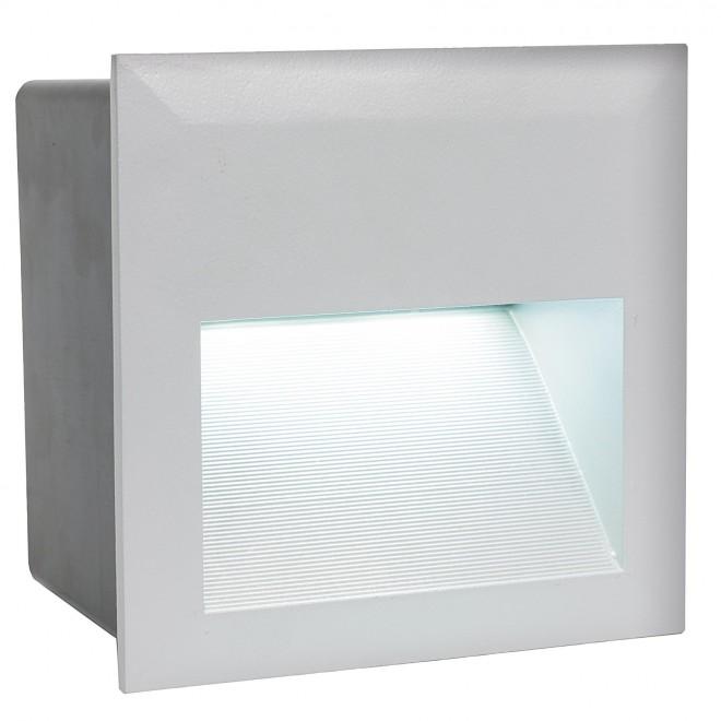 EGLO 95235 | ZimbaLed Eglo zabudovateľné svietidlo 140x140mm 1x LED 400lm 4000K IP65 strieborný