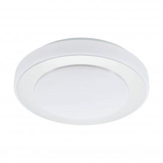 EGLO 95282 | Carpi-LED Eglo stenové, stropné svietidlo kruhový 1x LED 950lm 3000K IP44 chróm, biela