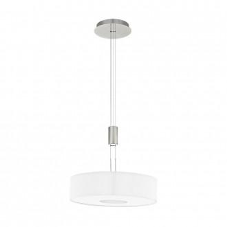 EGLO 95331 | Romao Eglo visiace svietidlo protiváhové, nastaviteľná výška, regulovateľná intenzita svetla 1x LED 2450lm 3000K matný nikel, chróm, biela