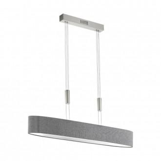 EGLO 95351 | Romao Eglo visiace svietidlo protiváhové, nastaviteľná výška, regulovateľná intenzita svetla 1x LED 3000lm 3000K matný nikel, chróm, sivé