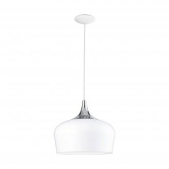 EGLO 95384 | Obregon Eglo visiace svietidlo 1x E27 biela, chróm